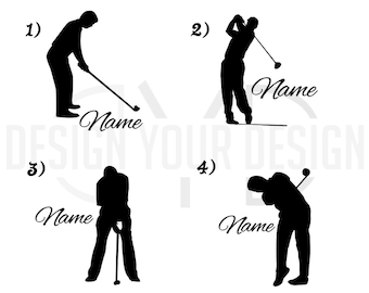 Custom Golf Decal or Iron On - Personalized Name