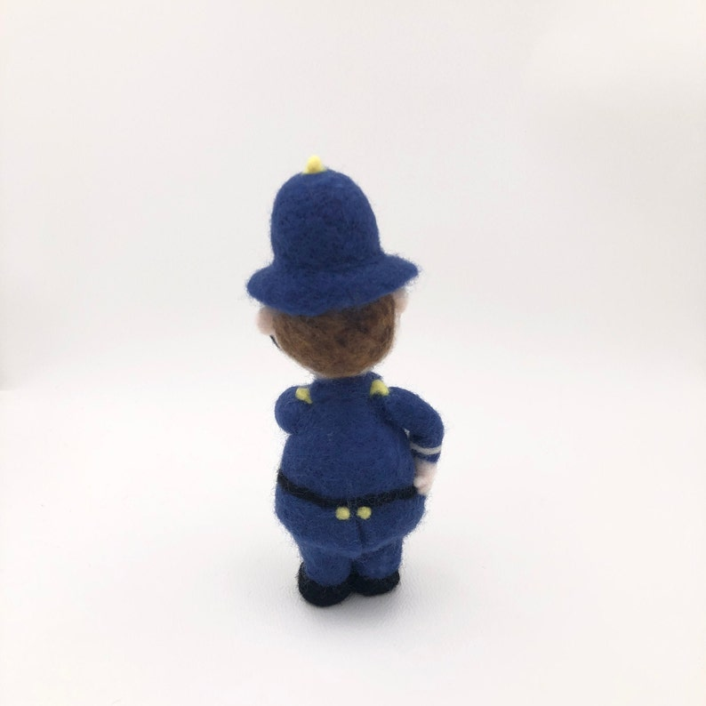 Doll collection Needle felted Policeman doll Handmade One of a kind