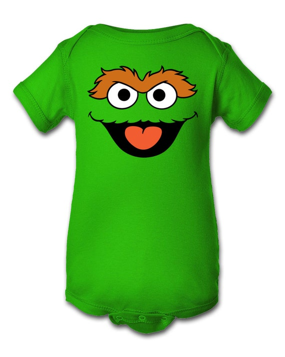Oscar The Grouch Inspired Character Onesie Infant Baby Newborn Onesie Creeper Crawler One Piece Bodysuit 100 Combed Ringspun Cotton