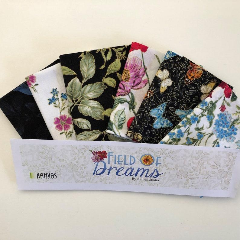 Butterfly /& Floral Metallic Fat Quarters from Kanvas Studio Field of Dreams 6 Fat Quarter Bundle Benartex
