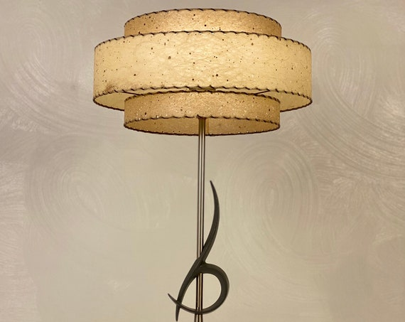 Vintage Rembrandt Lamp with Fiberglass Shade, Circa 1950s - *Please see notes on shipping before you purchase.