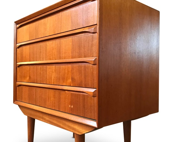 Mid Century Danish Teak 4 Drawer Server - *Please see notes on shipping before you purchase