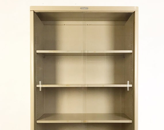 Steel-Age Tanker Bookcase with Glass Doors by Corry Jamestown MFG. Corp - *Please see notes on shipping before you purchase.