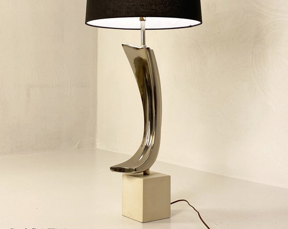 Modern Chrome Lamp by Laurel Lamp Company, Circa 1970s - *Please see notes on shipping before you purchase.