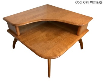 Heywood Wakefield Corner Table   *Please See Notes On Shipping Before You  Purchase.