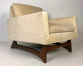 Adrian Pearsall Club Lounge Chair (2406-C) with Walnut Base, Circa 1960 39 s - Please see notes on shipping before you purchase.