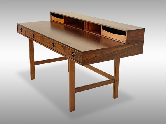 Brazilian Rosewood Lovig Partners Desk, Circa 1970 - *Please ask for a shipping quote before you buy.