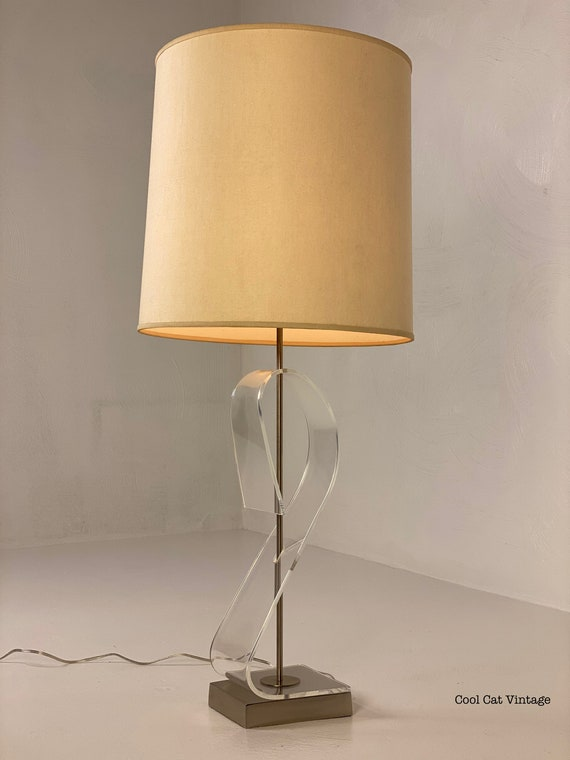 Chrome and Lucite Lamp by Laurel Lamp Co., Circa 1970s - *Please see notes on shipping before you purchase.