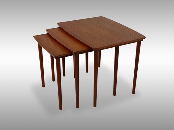 Set of Teak Nesting Tables by Møbelintarsia of Denmark, Circa 1960s - Please ask for a shipping quote before you buy.