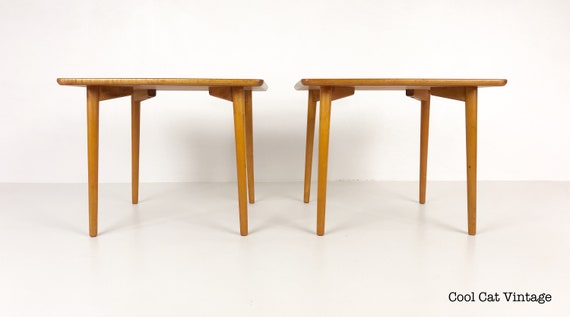 Pair of Lightweight Modern Teak End Tables by Dux of Sweden, Circa 1960s - *Please see notes on shipping before you purchase.