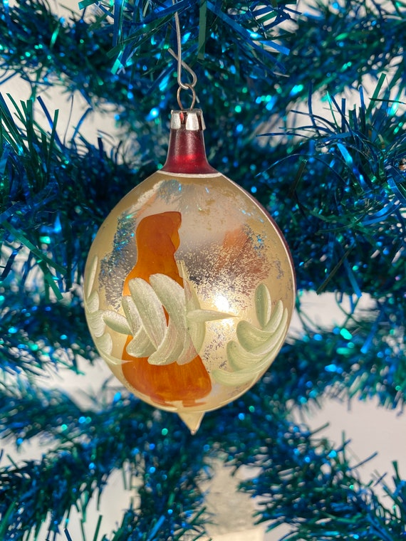 Antique Hand Painted Holiday Ornament - Poland (#C43)