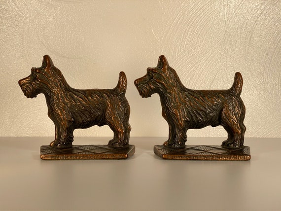 Verona Cast Iron Terrier Bookends - Pair
