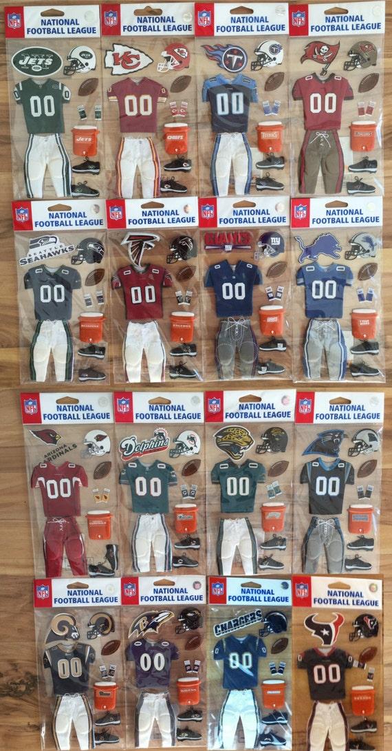 New York Jets Uniform Dimensional NFL scrapbook stickers EK Success