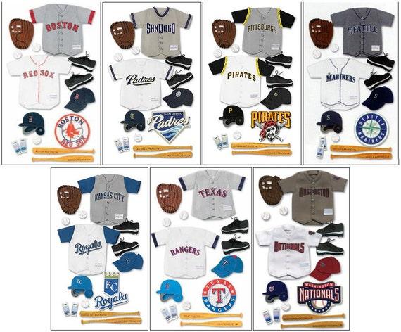 EK Success Major League Baseball Uniform 3D Stickers KANSAS CITY ROYALS
