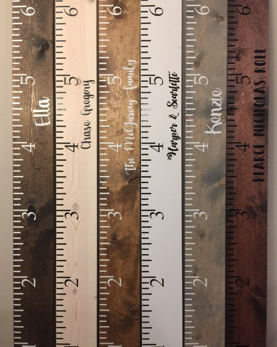 Giant Measuring Stick Growth Chart Personalized Growth Chart Etsy
