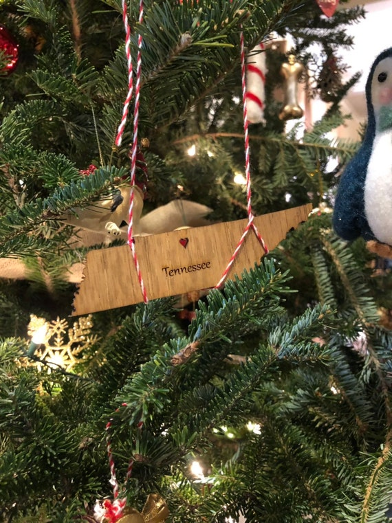 Christmas In Tennessee.State Christmas Ornamnets Tennessee Wood Ornament Handmade Tenneessee Ornament Custom State Ornament Free Shipping