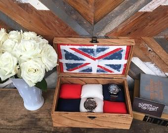 Union Jack - British flag - watch box - watch case - jewelry box