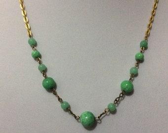 Vintage Art Deco Peking glass necklace