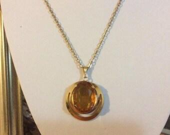 Vintage Topaz glass pendant