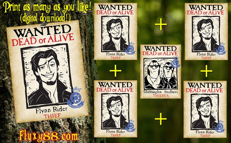 Tangled Flyers 6  Flynn Rider & Stabbington Brothers Wanted image 0