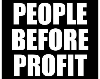 Political Paper Sticker People Before Profit Protester Occupy Hippie Socialist Anarchist