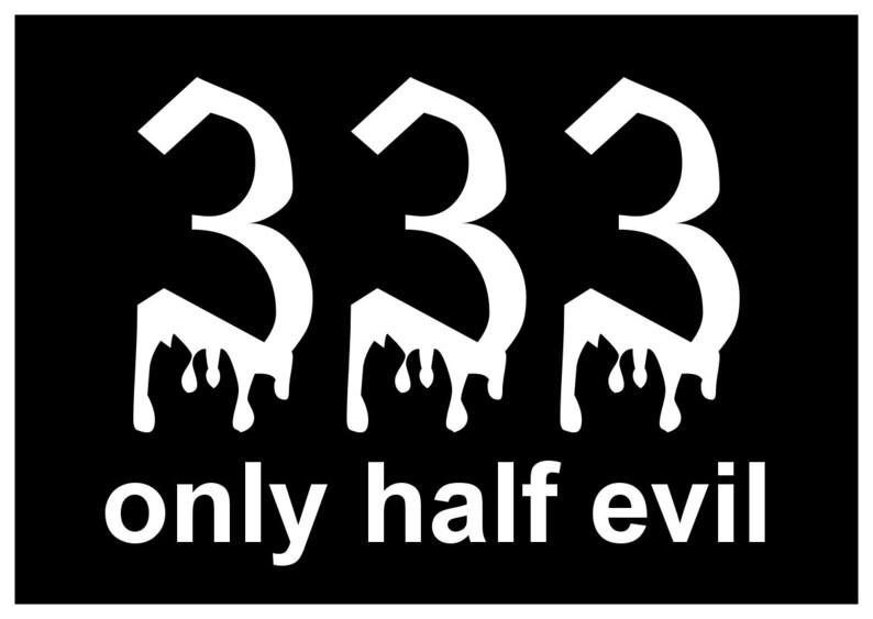 4b31ed549bd3 New Black Comedy Paper Sticker Cute Funny Fun 333 Only Half
