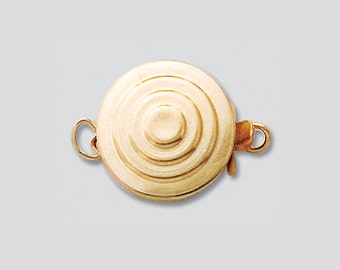 Gold Filled  or Sterling Silver  Bull's Eye Clasp, Single Strand