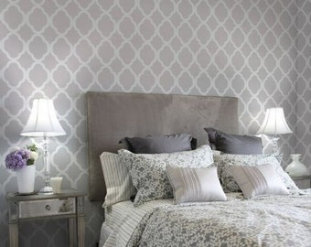 Moroccan self adhesive vinyl wallpaper, removable nursery mb051