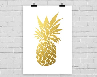 fine-art print PINEAPPLE FAKE GOLD