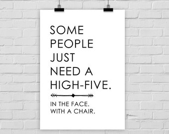 fine-art print poster HIGH-FIVE