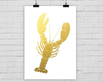 fine-art print LOBSTER FAKE GOLD