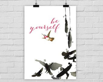 fine-art print poster BE YOURSELF