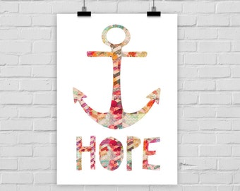 fine-art print poster HOPE anchor