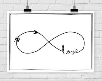 fine-art print poster infinity love
