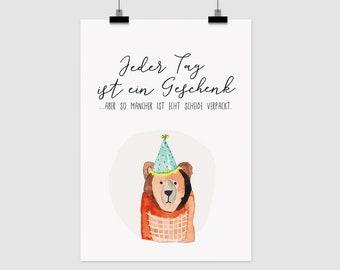"""fine-art print """"Jeder Tag ist ein Geschenk"""""""