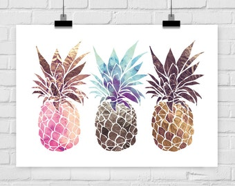 fine-art print pinapple trio