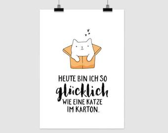 """fine art print """"Katze im Karton"""""""
