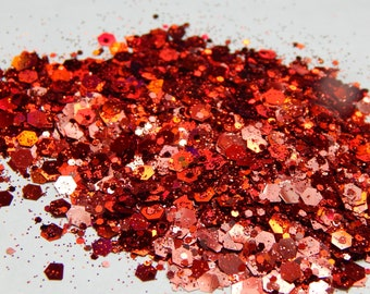 Red Chunky Glitter