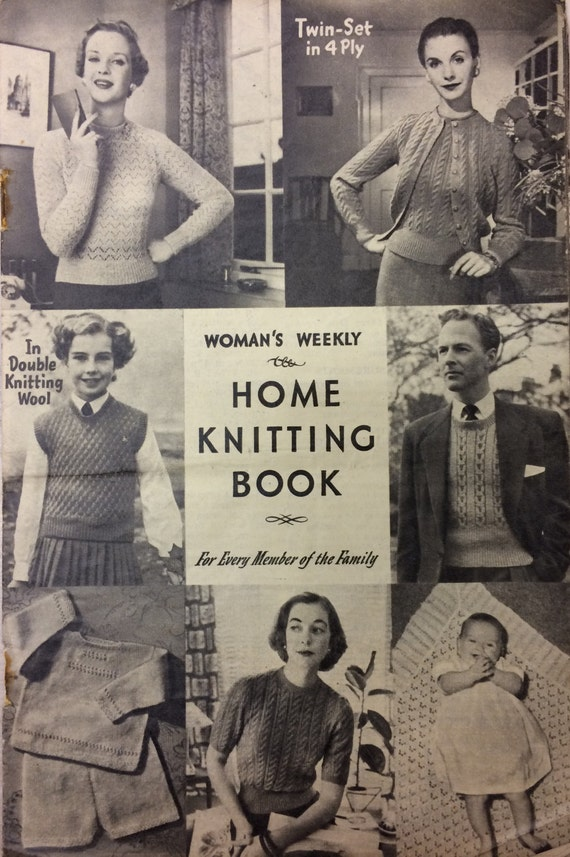 Vintage Knitting Pattern Womans Weekly Home Knitting Etsy