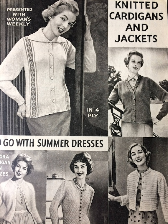 Vintage Knitting Pattern 1950s Womens Weekly Knitted