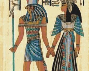 egyptian Cross Stitch Pattern Pdf egyptian pattern papyrus pattern - 331 x 490 stitches - INSTANT Download - B1562
