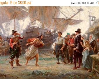 Abduction of Pocahontas Cross Stitch Pattern Pdf Pocahontas  pattern - 496 x 342 stitches - INSTANT Download - B659