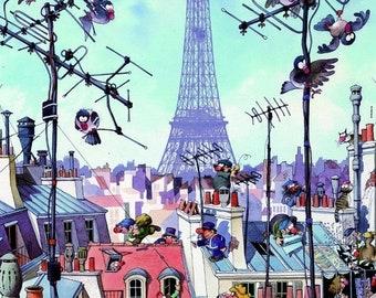 Eiffel tower Cross Stitch pdf Pattern Paris cross stitch pari pattern - 303 x 429 stitches - INSTANT Download - B653