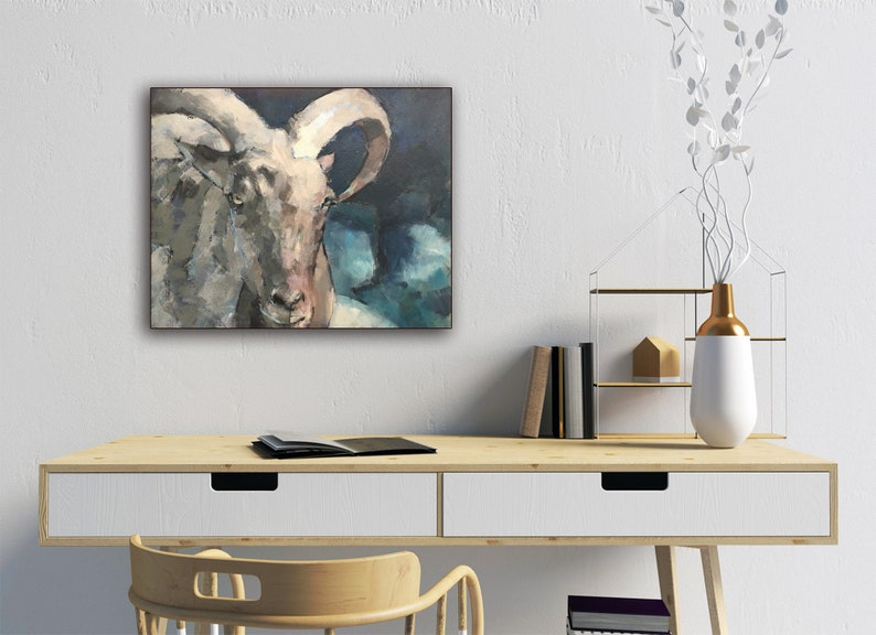 Bold Painting of a Ram image 1