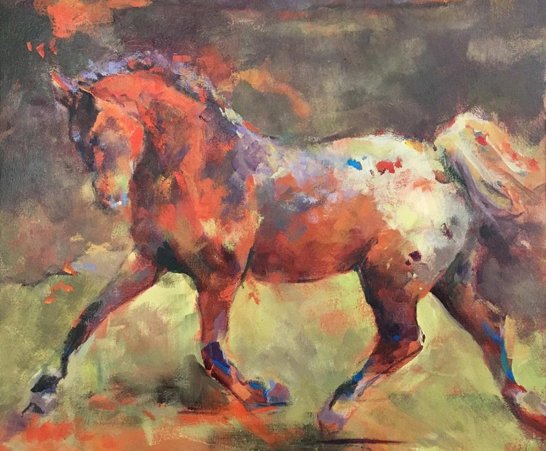 Impressionist Painting of an Appaloosa Horse image 1