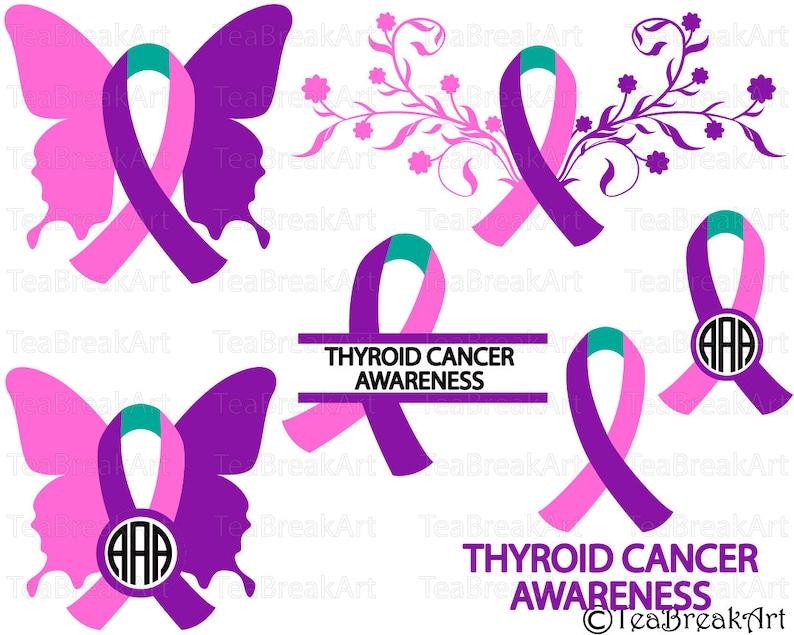 Thyroid Cancer Ribbon Images Cancerwalls
