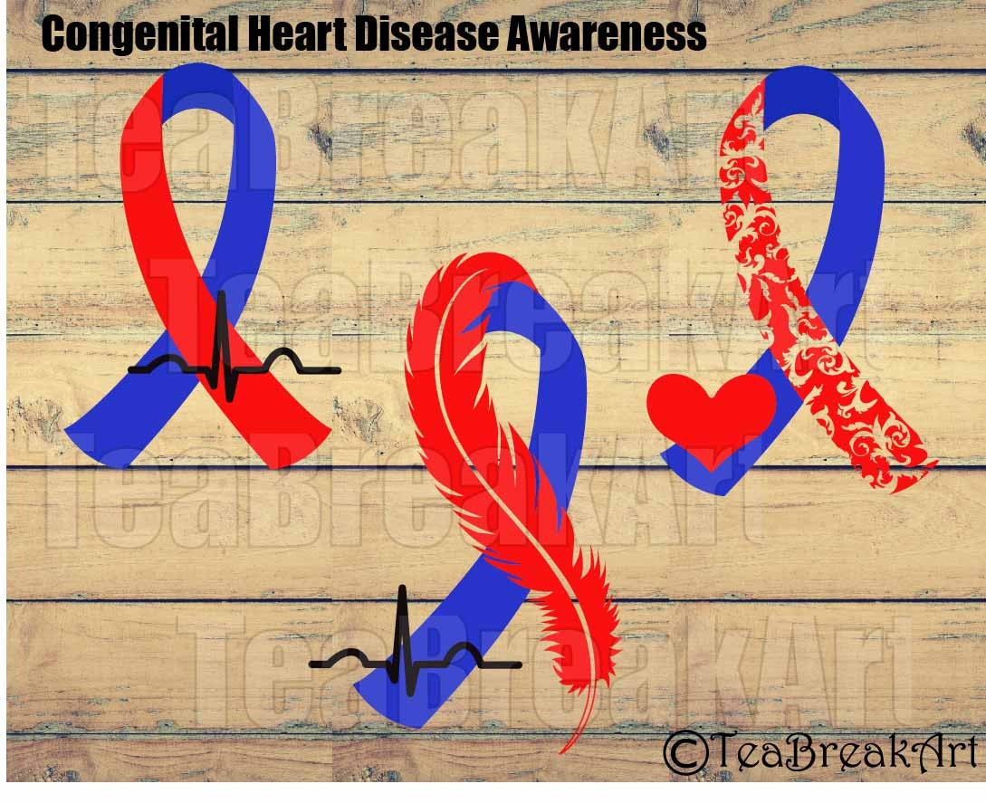 Congenital Heart Disease Awareness Zentangle Feather Bird Etsy