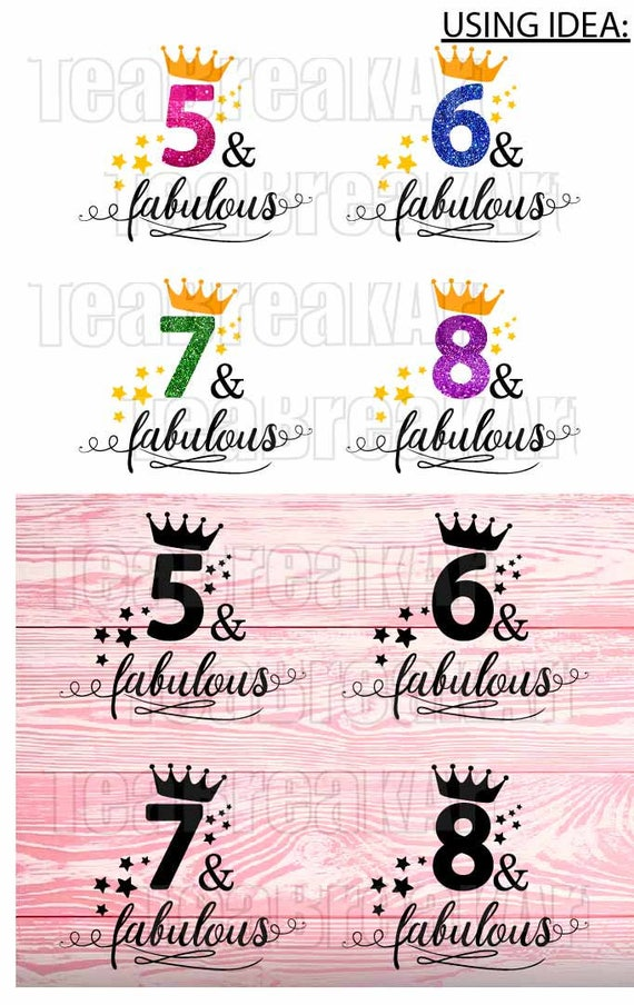 Five And Fabulous Cutting Files Svg Png Dxf Jpg Instant Etsy