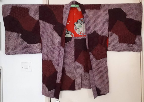 Vintage 1930's Jacquard Shibori Haori, Kimono