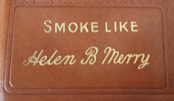 1940's Cigarette Case-Humorous Novelty Leather.
